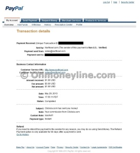 Clicksia Payment Proof Paypal Screenshot