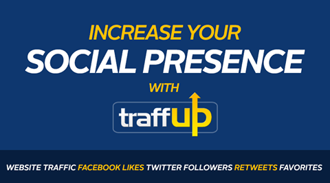 Increase your social presence with Traffup - Facebook Likes, Twitter Followers, Retweets and Favorites, and Website Traffic