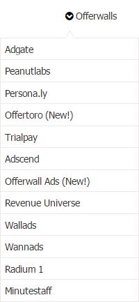 Offernation Offerwalls Earning Categories List