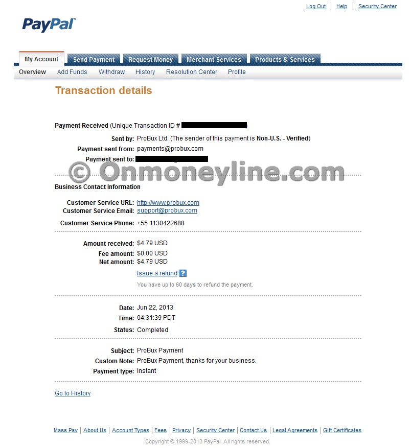Probux Payment 1 - Paypal