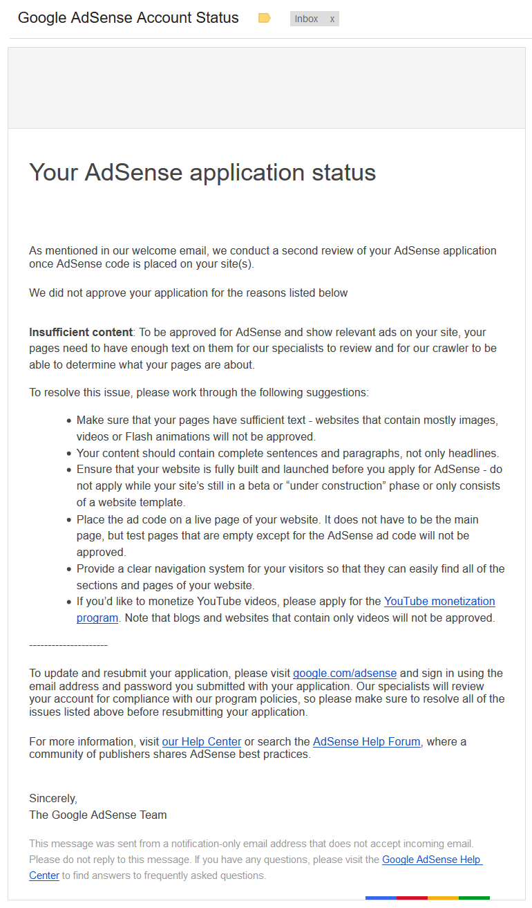 google-adsense-account-application-status-not-approved